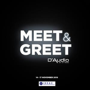 Meet and Greet D'Audio, Exhibitor IHEAC Show 2019